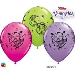 "11"" Vampirina Latex Balloons, Qualatex 89516"