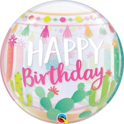"Balon Bubble 22"" Llama Birthday Party, Qualatex 87742"