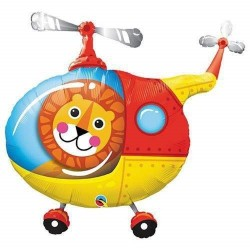 Balon Folie Figurina Lion Helicopter - 89 cm, Qualatex 25266