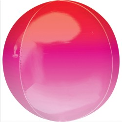 Balon folie Ombre Orbz Red & Pink - 40553