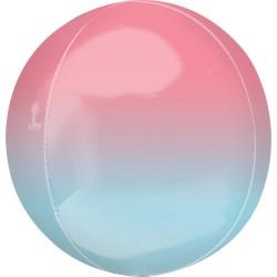 Balon folie Ombre Orbz Pink & Blue - 40628