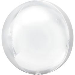 Balon folie Ombre Orbz White - A40307
