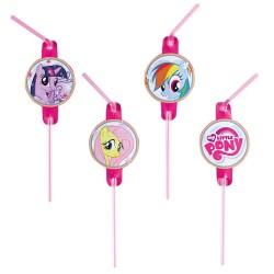 Paie flexibile pentru petrecere My Little Pony Rainbow, Amscan 998470, Set 8 buc