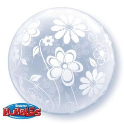 20″ / 51cm Deco Bubble Floral Patterns All Around, Qualatex 16874