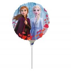 Balon Mini Folie Frozen 2 - Anna, Elsa & Olaf, 23 cm, Amscan 40556