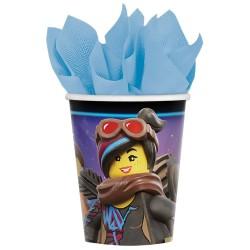 Pahare carton Lego Movie 2 pentru petrecere - 266 ml, Amscan 581711, set 8 buc