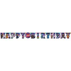 Banner decorativ pentru petrecere - 163 x 13 cm, Happy Birthday cu Lego Movie 2, Amscan 9904646