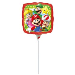 Balon Mini Folie Mario - 23 cm, Amscan 32028
