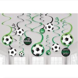 Serpentine decorative cu minge fotbal - Radar 672902, set 12 buc