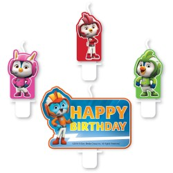 4 Mini Character Candles Top Wing Height 5.5 / 6.4 cm, A9904879