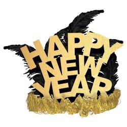 Coronita party cu pene - Happy New Year, Amscan 250862