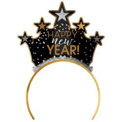 Tiara Happy New Year Black Silver Gold, Amscan 250864