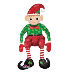 Multi Balloon Sitting Elf FoilBalloon, Amscan 27854