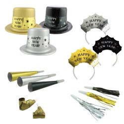 Party Kit New Year Get Party Started Paper / Plastic 50 Pieces, Radar 9902946