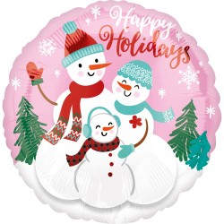 Balon Folie 45 cm Sarbatori - Merry Happy Holidays, Amscan 40101