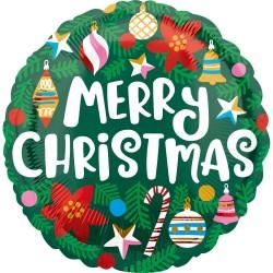 Standard Christmas Pine & Ornaments Foil Balloon, Amscan 40104