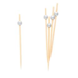 Scobitori decorative cu Perle Argintii, Radar 50269, Set 25 buc