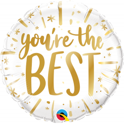 You're The Best Gold Foil Balloon - 45 cm, Qualatex 88169