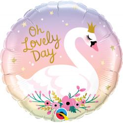 Balon Folie 45 cm - Oh Lovely Day, Qualatex 10371