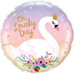 Oh Lovely Day Foil Balloon, Qualatex 10371