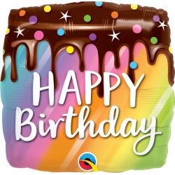Birthday Rainbow Drip Cake, Qualatex 10485, 1 piece