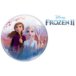 Balon Bubble 22''/56 cm - Frozen 2, Qualatex 97502, 1 buc