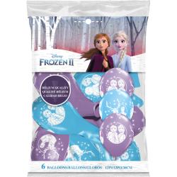 Disney Frozen 2 Balloons, Qualatex 99713, pack of 6 pieces