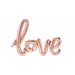 Pachet baloane folie script - Love, 40''/100 cm, Qualatex Q59790