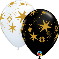 Star Patterns Balloons, Qualatex 97461, pack of 25 pieces