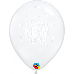 New Year Sparkle & Dots Balloons, Qualatex 97325, pack of 25 pieces