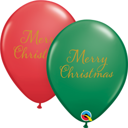 Simply Merry Christmas Balloons, Qualatex 97323, pack of 25 pieces