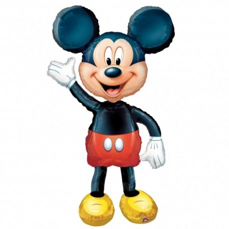 Balon Folie Airwalker Mickey Mouse Disney, Amscan, 132 cm, 08318