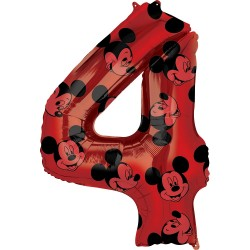 Mickey Mouse Forever Number 1 Foil Balloon, Amscan 40131, 1 piece