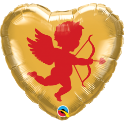Balon Folie 45 cm Cupidon - 2 fete, Qualatex 97152