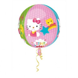Balon Folie Sfera Orbz Hello Kitty - 43 x 45 cm, Amscan 28393