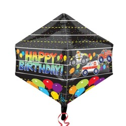 Balon Folie Happy Birthday Rescue Cars- 43x53 cm, Amscan 33310