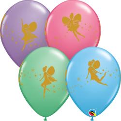 Fairies & Sparkles Latex Balloons, Qualatex 12451, set 25 pieces