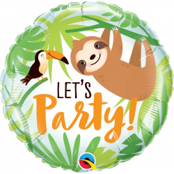 Balon Folie 45 cm Let's Party Toucan & Sloth, Qualatex 12259