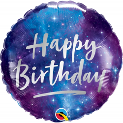 Birthday Galaxy Balloon Foil, Qualatex 12273