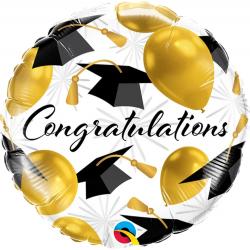 Congratulations Gold Balloons Foil Balloon, Qualatex 82283