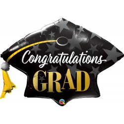 Congratulations Grad Stars Foil Balloon- 106 cm, Qualatex 82656