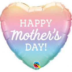 Mother's Day Pastel Ombre Balloon Foil, Qualatex 98412
