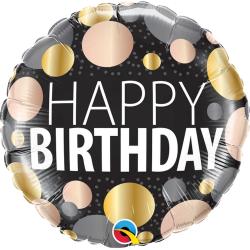 Birthday Big Metallic Dots Foil Balloon, Qualatex 12268