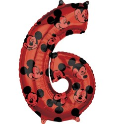 Mickey Mouse Forever Number 6 Foil Balloon, Amscan 41707, 1 piece