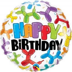 Birthday Balloon Dogs Foil Balloon, Qualatex 13306