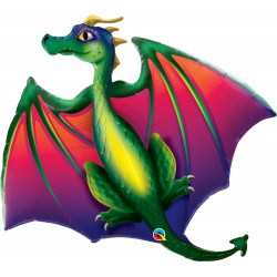 Foil Balloon Mythical Dragon, 45'' - Qualatex 13587