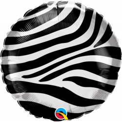 Balon Folie 45 cm Zebra Stripes Pattern Pattern, Qualatex 13354