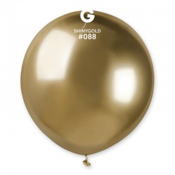 Balon Latex Jumbo Shiny Gold- 48 cm, Gemar GB150.88