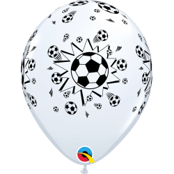 """11"""" Printed Latex Balloons - Soccer Balls, Qualatex 92044, Pack of 25 Pieces"""