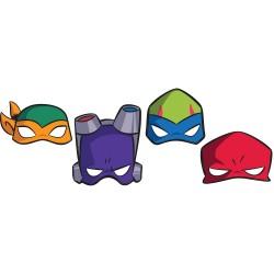 Masti copii pentru petrecere Teenage Mutant Ninja Turtles, Amscan 3600000, set 8 buc